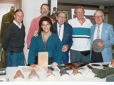 Bill Blake, production designer Bill Creber, E. Greene, Marvin Paige, Ron Harper & Booth - book signings in '96