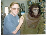 Bill Blake and Jeff K. in make-up - book signings '96