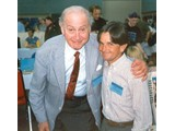 "Booth Colman with Bobby Porter, who appeared in the ""Battle"" movie and in the tv series (The Good Seeds"", ""Escape From Tomorrow"") - StarCon '96"