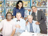 Jeff, Noah Keene, Eric Greene, Booth Colman and Buck Kartalian - book signings '96