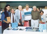 author Eric Greene, Buck Kartalian (from the original POTA movie), Booth Colman, Ron Harper, producer Mort Abrahams and Bobby Porter - StarCon '96